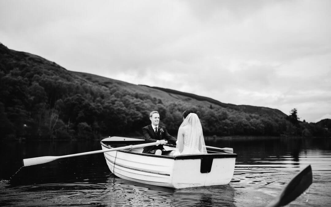 A Scottish wedding beside a loch