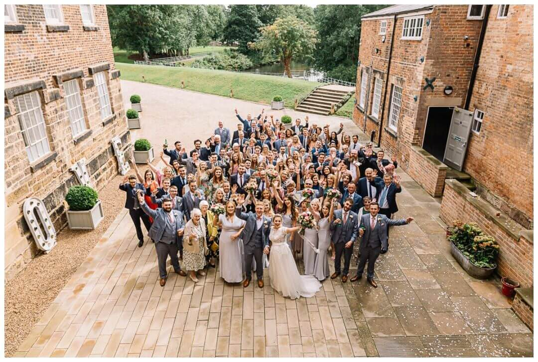 Groupshot at the West Mill Wedding Venye