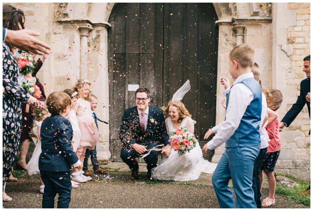 Epic Confetti throw at Holy Trinity Church, Bottisham