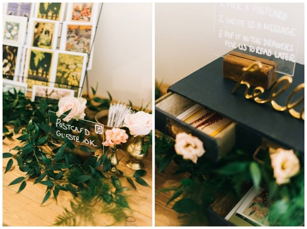 Postcard guestbook Ideas