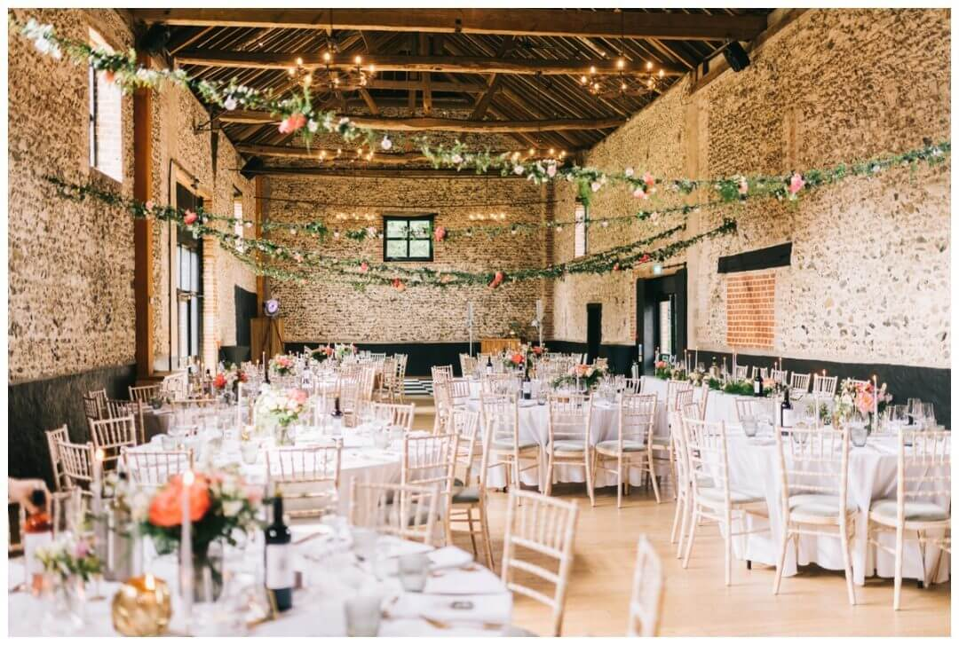 Floral wedding styling at the Granary Estate