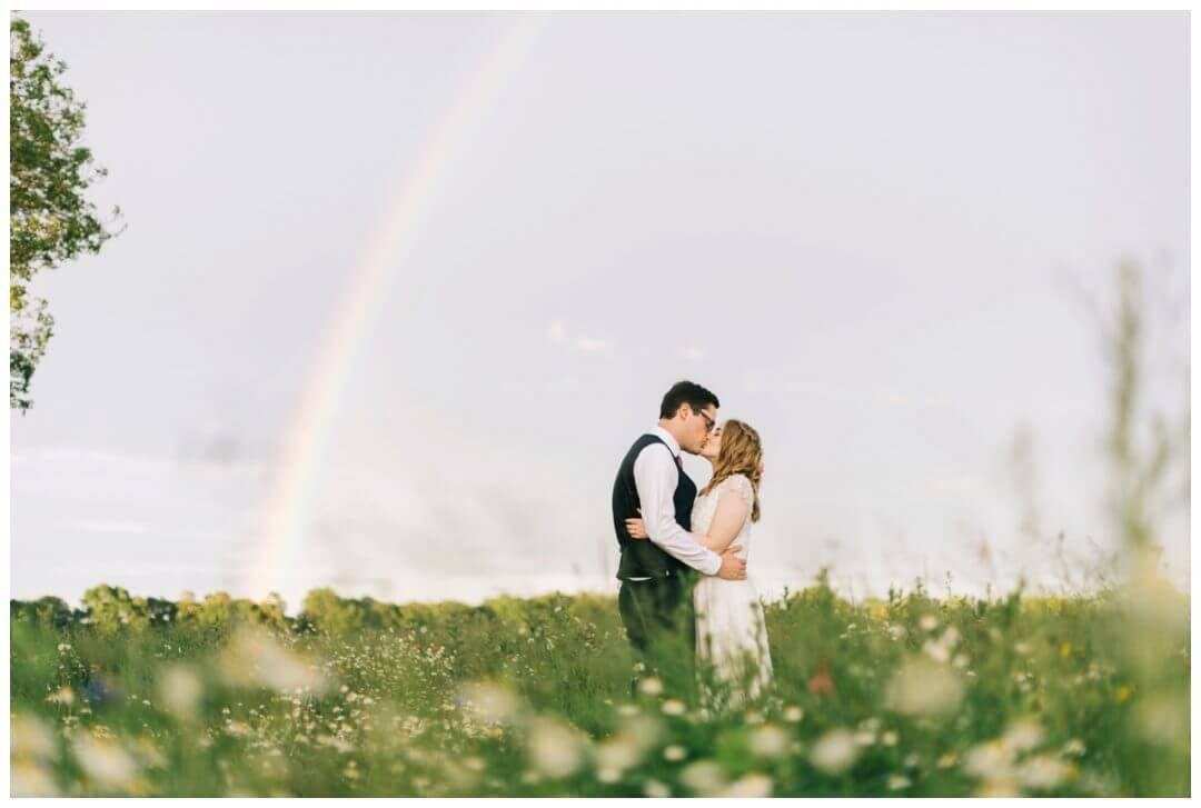 Golden hour wedding photography at the granary estate