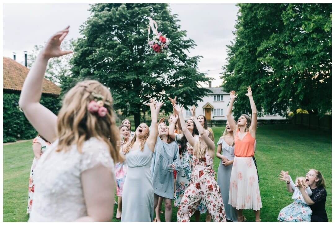Throwing the bouquet at the Granary Estate