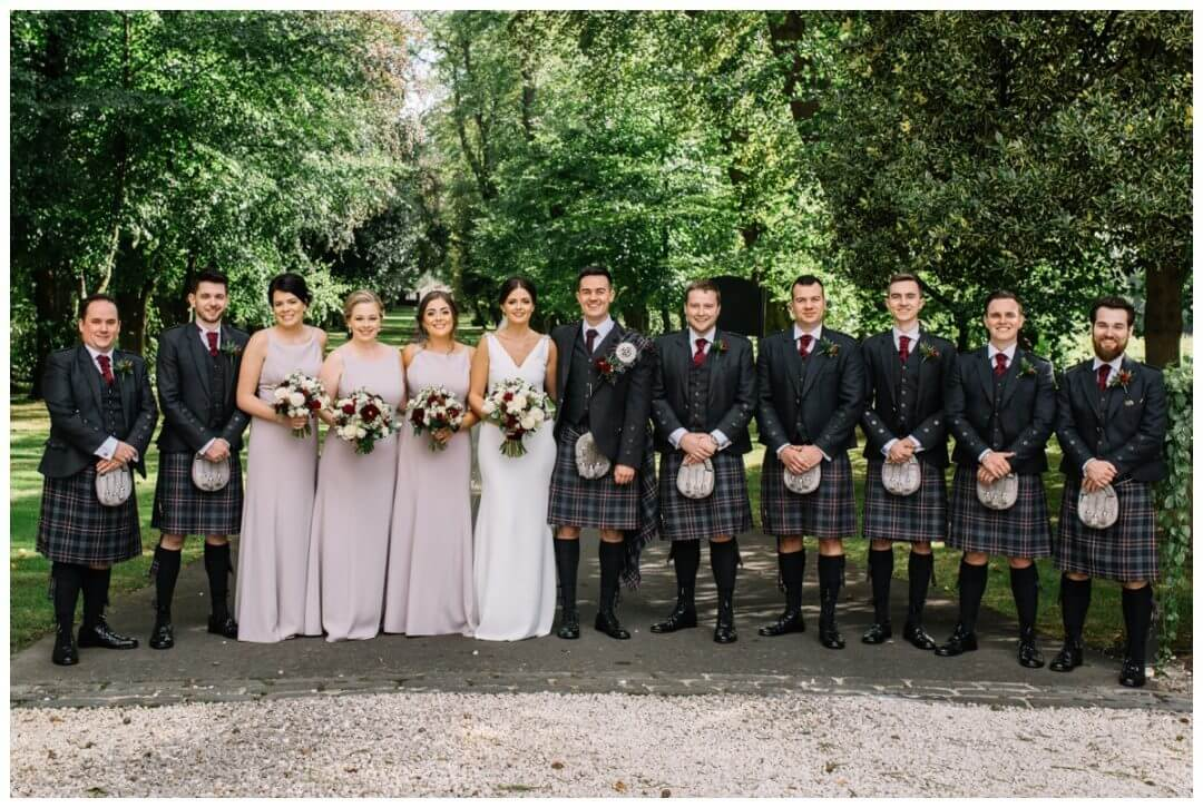 The bridal party - Carlowrie Castle Wedding Photographer