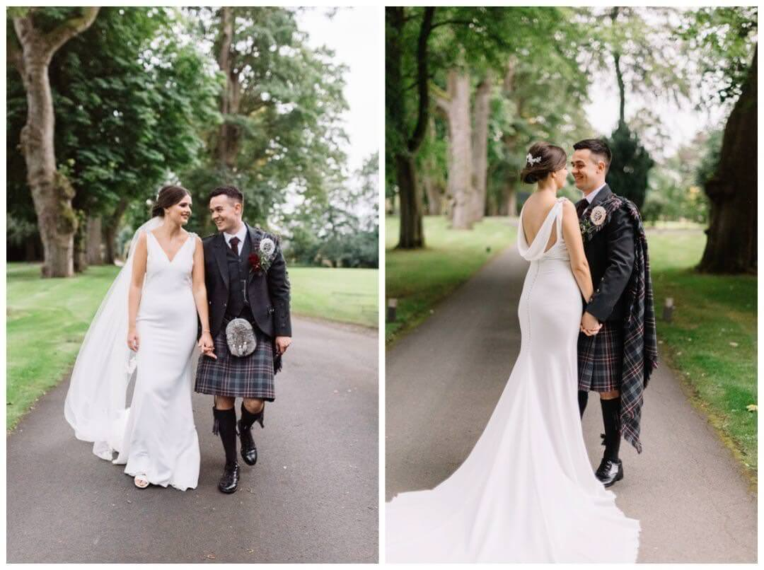 Couple portraits at Carlowrie Castle