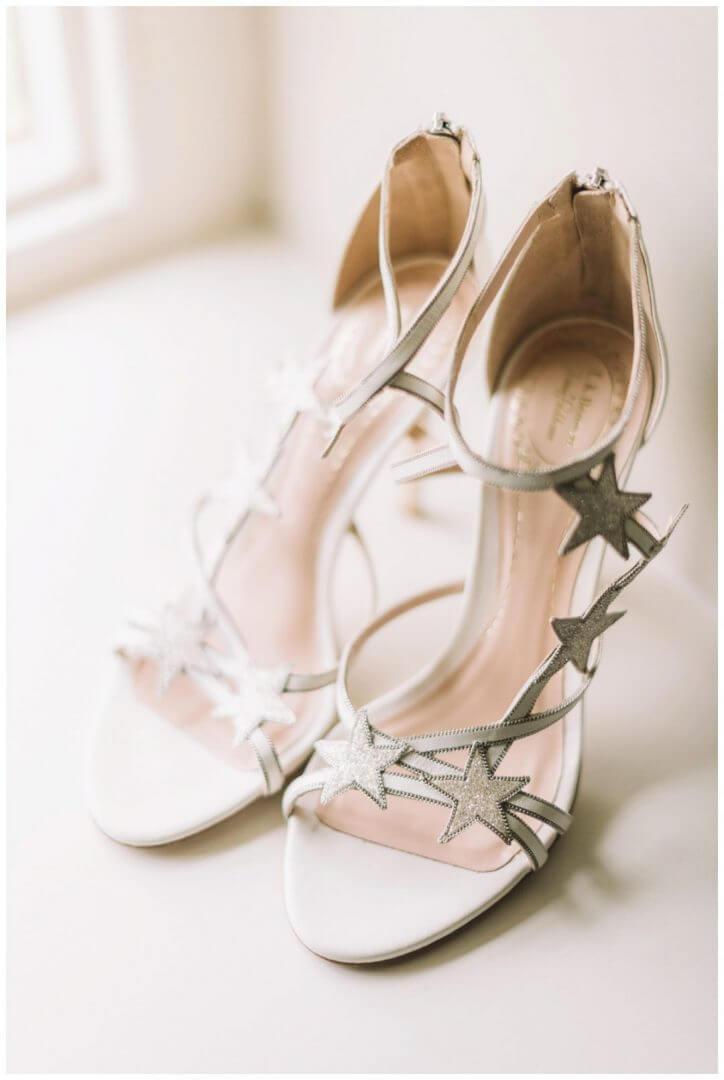 Jenny Packham shoes at Bridal prep