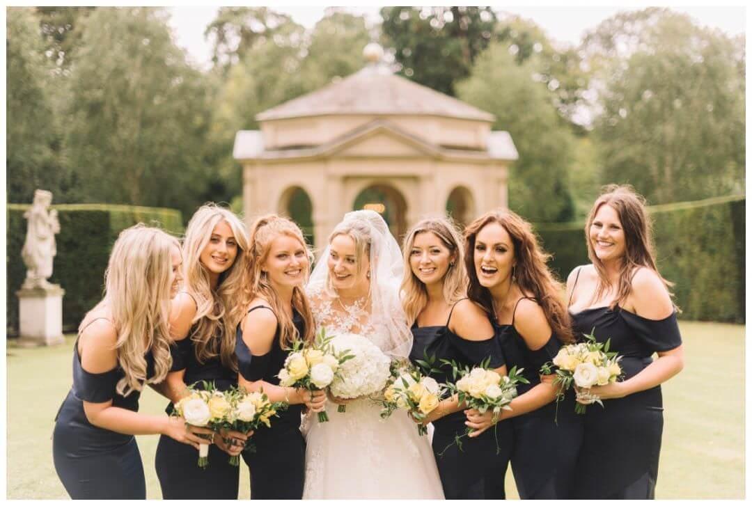 Bridesmaids at the Orangery at Settrington