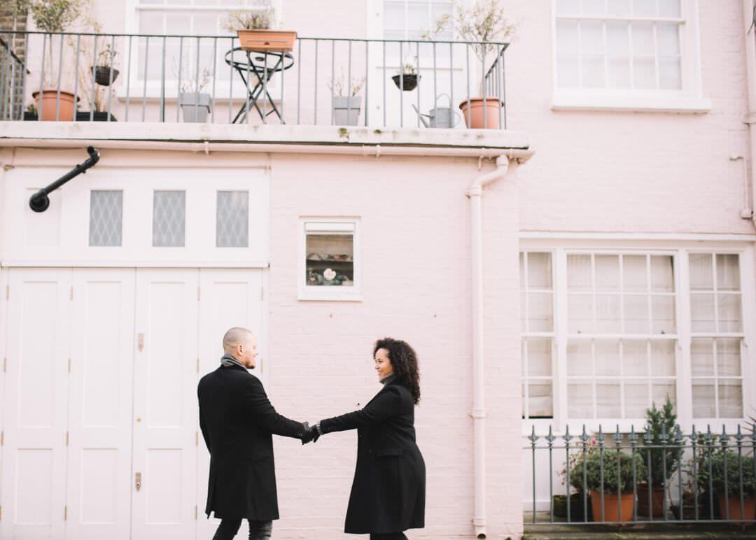 London Engagement Shoot Photographer, Notting Hill