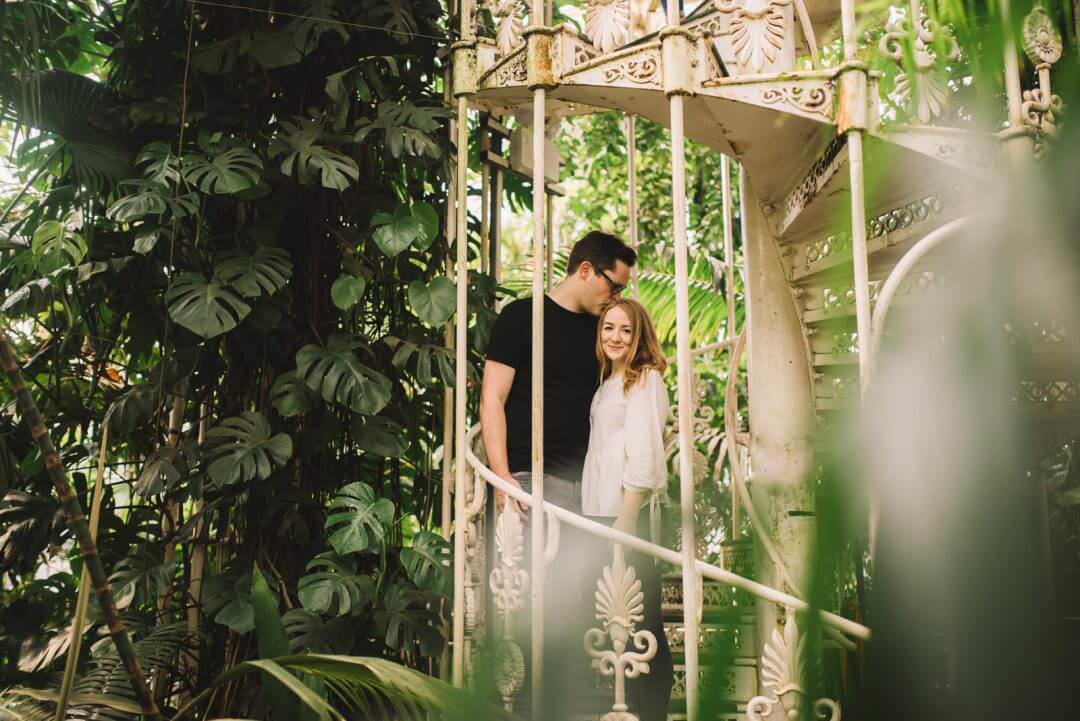 Engagement Shoot at Temperate House at Kew Gardens