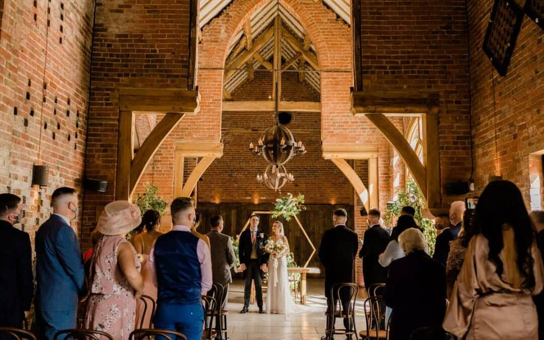 An intimate Ceremony at Shustoke Barn