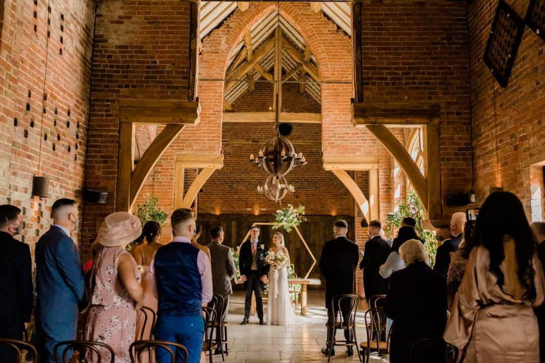 An intimate Ceremony at Shustoke Barn