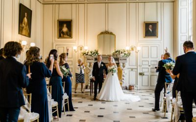 An Intimate Wedding Ceremony at Gosfield Hall